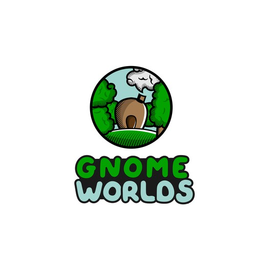 Gnomeworlds logo design