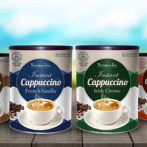 Redesign the can for our French Vanilla Cappuccino mix