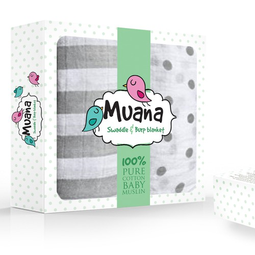 baby muslin packaging