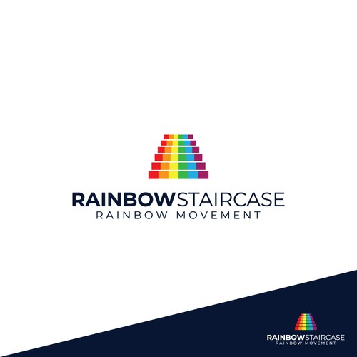 Logo design concept for Rainbow Staircase contest.