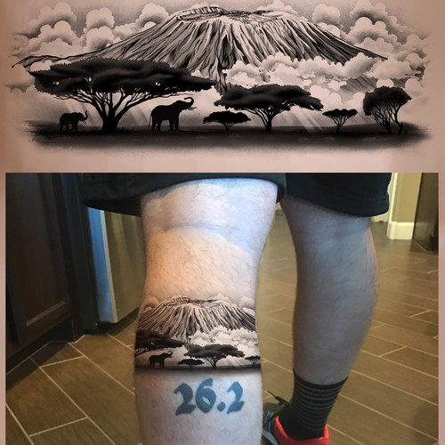 Kilimanjaro tattoo design
