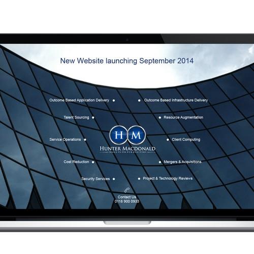 Splash screen for technology company website