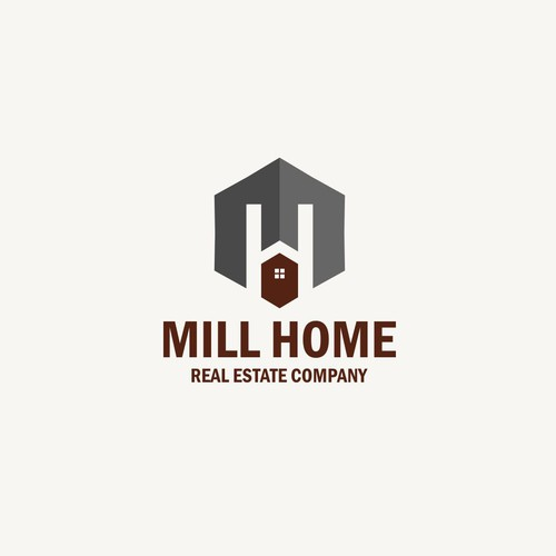 Creating an awesome 1900s Mill Home real estate company brand.