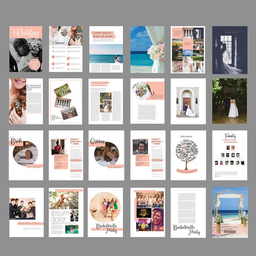 Wedding Magazine Layout