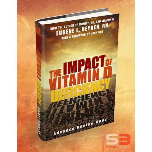 Create a dynamic book cover for The Impact of Vitamin D Deficiency