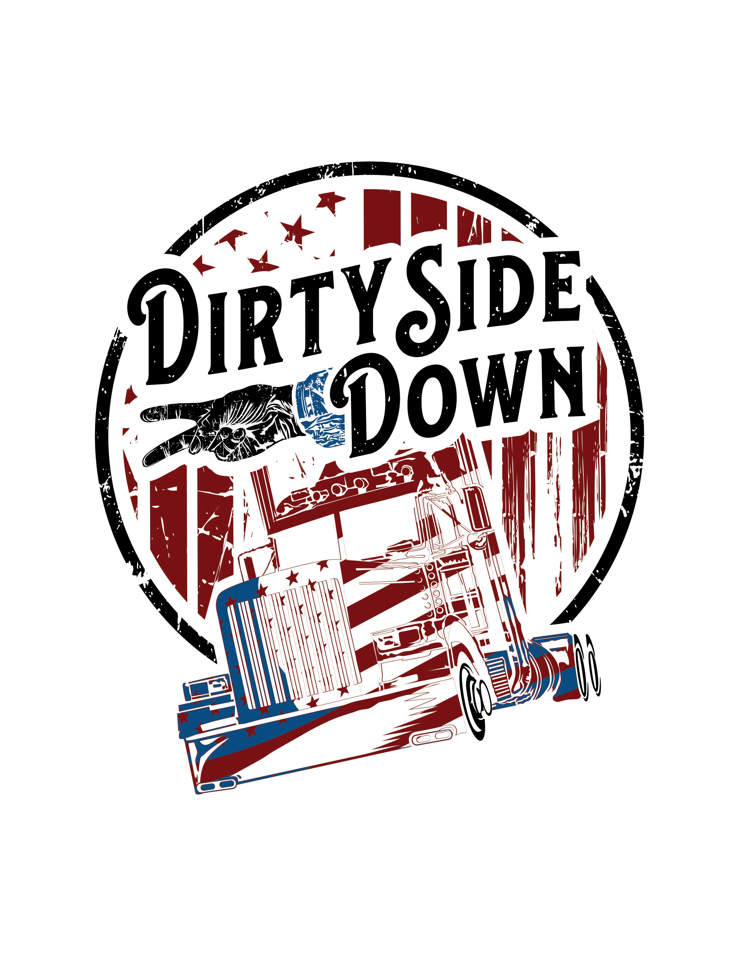 Dirty Side Down design