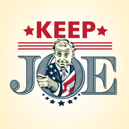 portrait of joe biden for a mock political ad