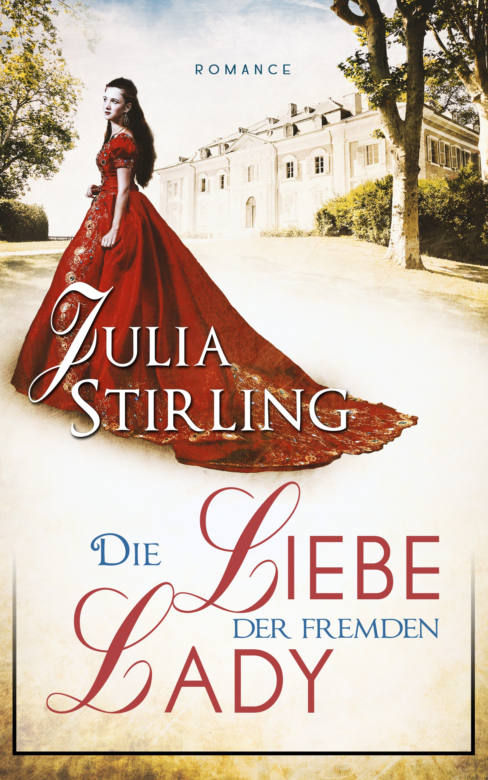 Romantic but classy: Cover for historical romance set at the exiled English court in France in 1689