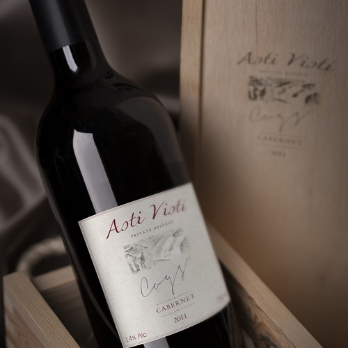 product label for Cog's Asti Visti Wine