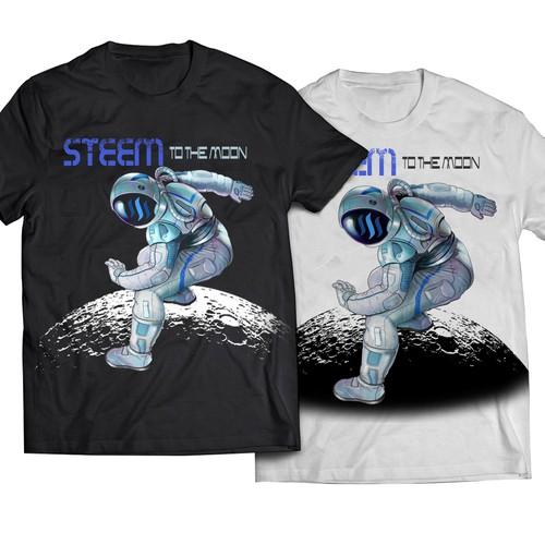 futuristic astronaut T SHIRT design