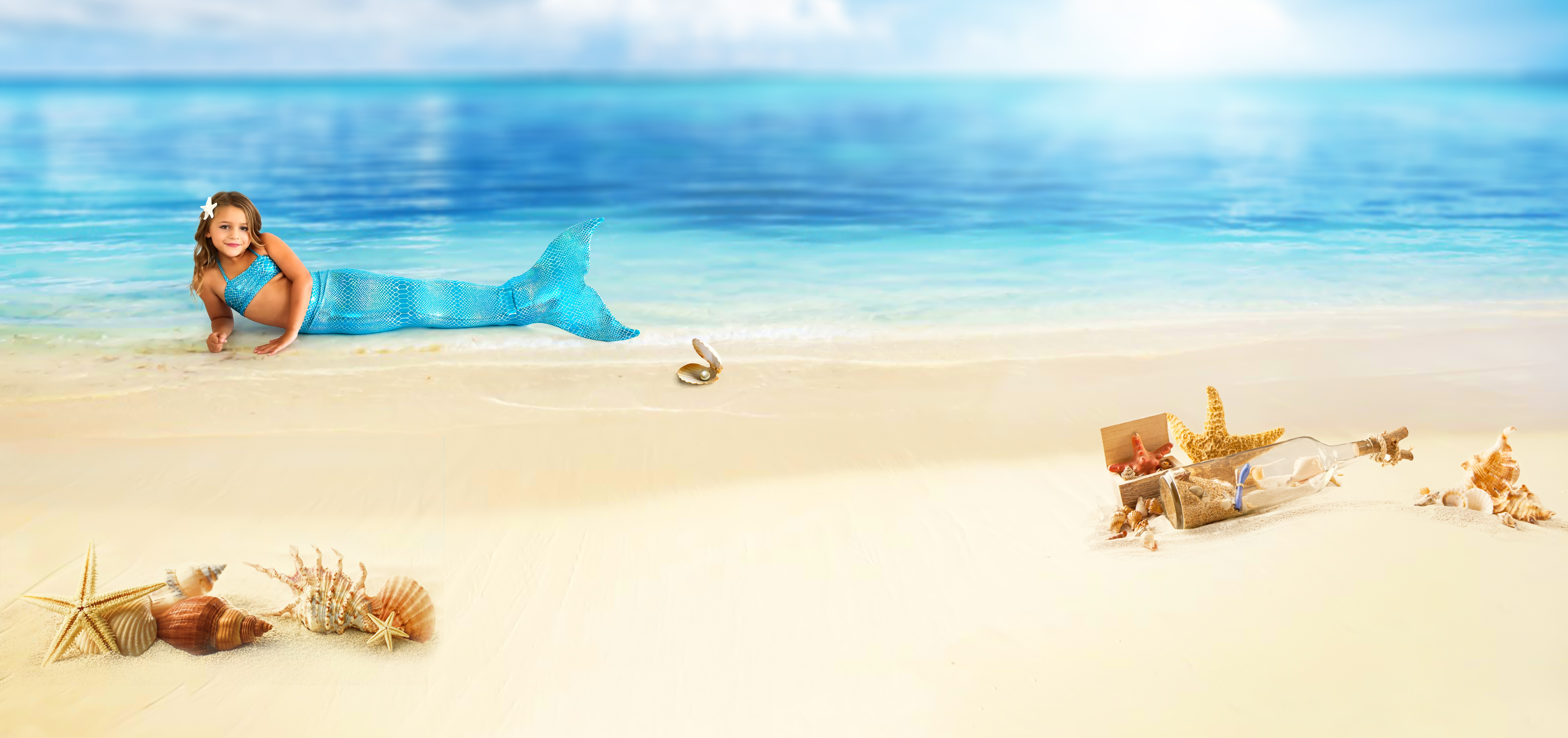 Web Banner for Mermaid Tail Shop