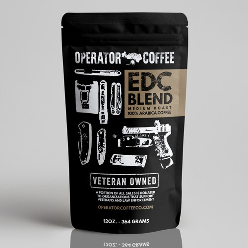 Veteran Coffee Bag Label