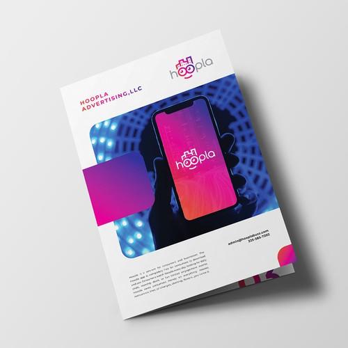 Bifold Brochure Design for Hoopla Apps