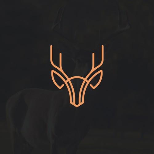 Geometric Deer logo