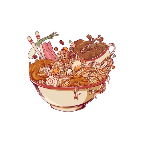 Ramen and Coffee meets Tote Bag Design