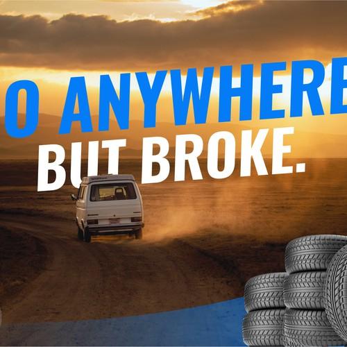 create award winning poser for tire, car repair shop