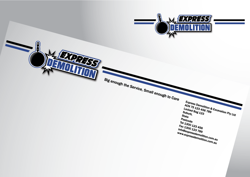 Logo / Corporate Identity & Signage concepts for new Demolition business
