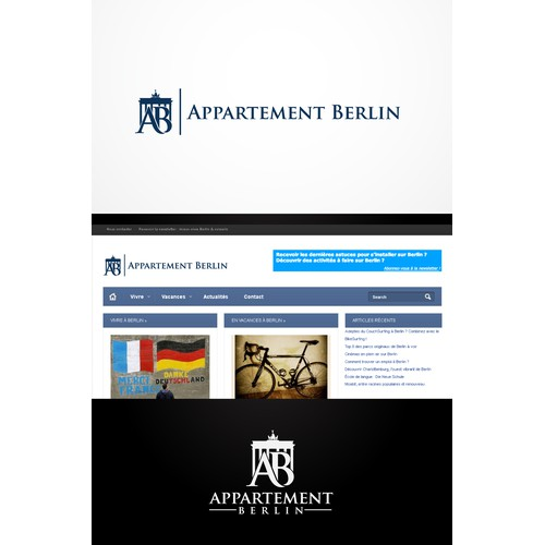 Create a dynamic logo design for http://appartement-berlin.fr/