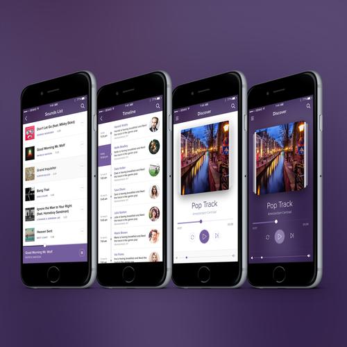 Social Music iOS App Design
