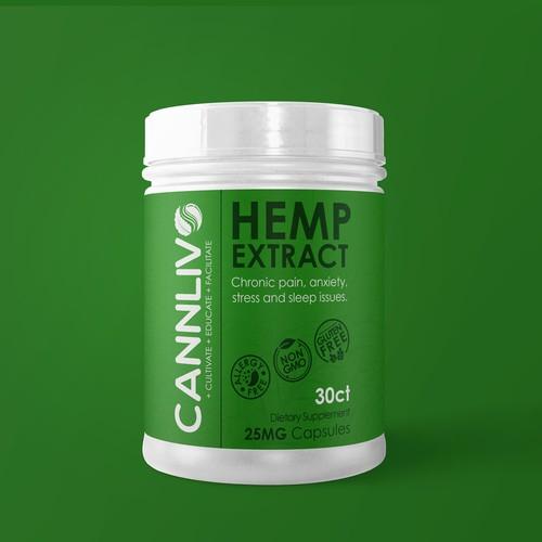 Hemp Extract caps Label