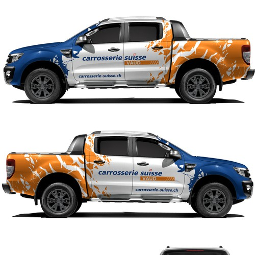 Ford Ranger carrosserie-suisse wrap design