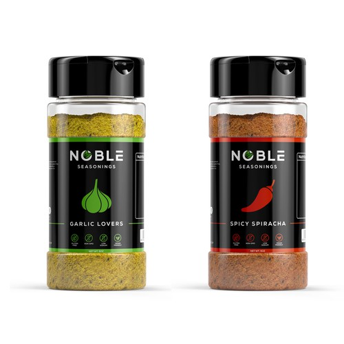 Label concept for Noble Seasonings