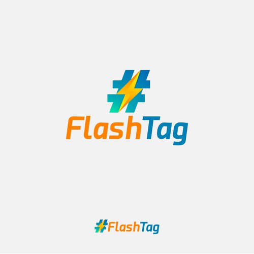flash tag concept logo