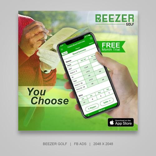 Professional FB Ads for Beezer Golf