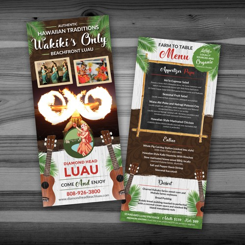Diamond Head LUAU Rack Card