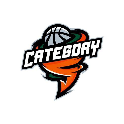 Basketball Team Logo for Category 5