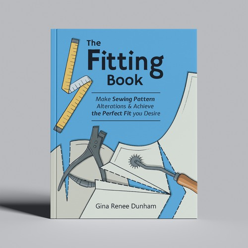 The Book Cover for a Clothing Fitting book