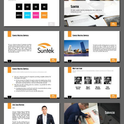 Powerpoint template design for a leading mexican print industry company