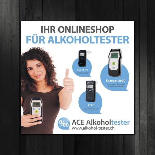 Stoff-Banner für ACE-Alkoholtester (3 x 3 m)