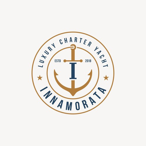 Design an elegant and timeless logo for a luxury dinner cruiser.