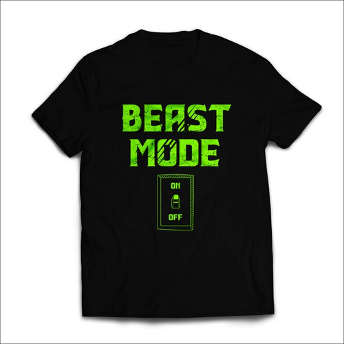 Beast Mode T-shirt Design.