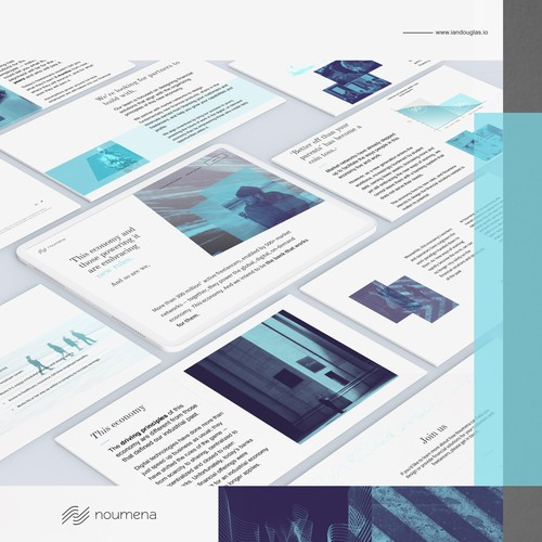 Wordpress landing page for fintech company Noumena