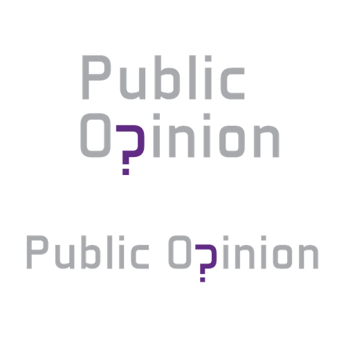 Logo concept for a public opinion webpage