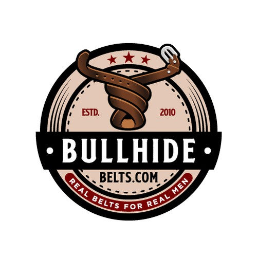 Bold Bull Logo for Company That Sells Leather Belts