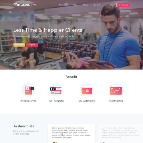Rehabguru Pro Landing Page