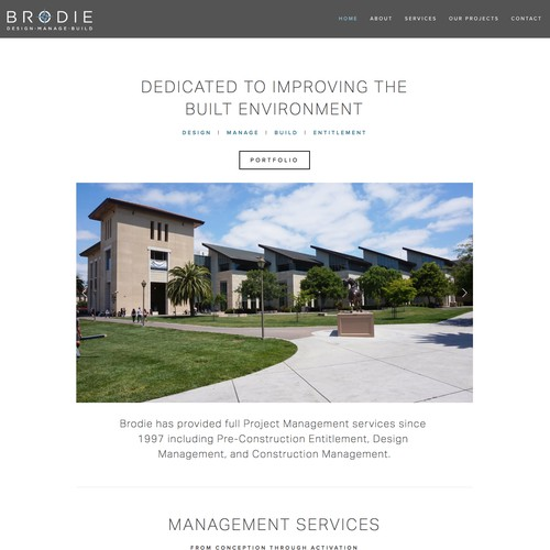Web Redesign for Local Project Management Company in California