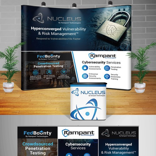 Design a Modern and Eye catching Tradeshow Booth for an Up and Coming Cybersecurity Company