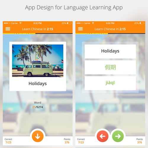 App Design for Language Learning App