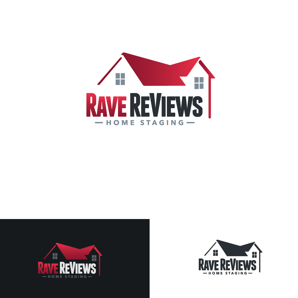 Rave ReViews Home Staging logo & business card