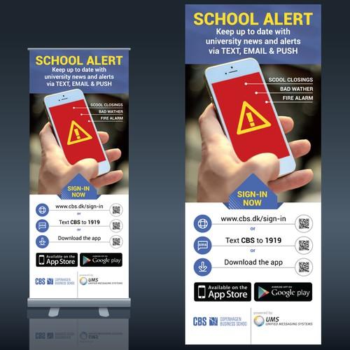 Banner for School Alert