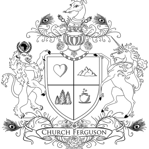 family family coat of arms concept