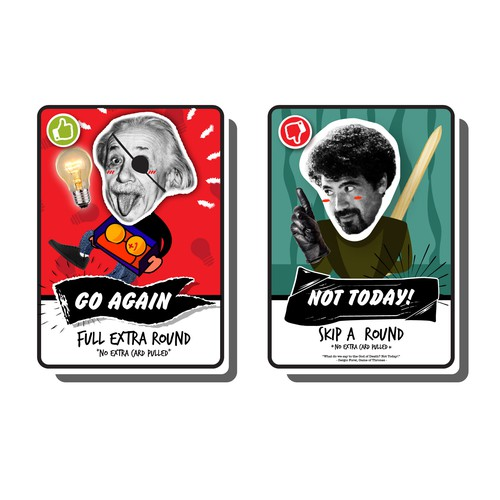 Card Game with Rascal, Street, Meme, and Vandalism concept