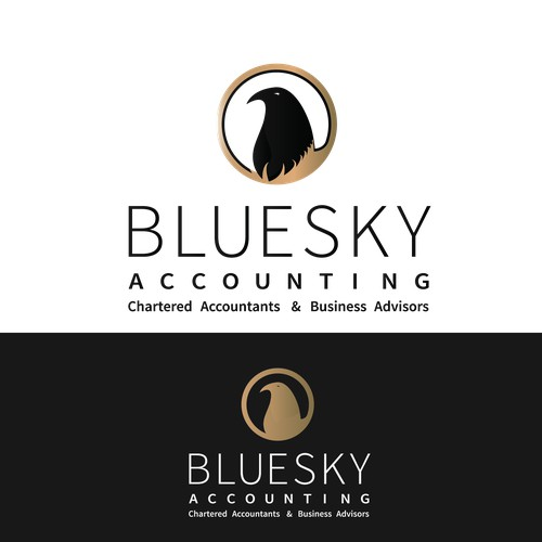 Create a modern, edgy yet serious logo for a growing Accounting firm