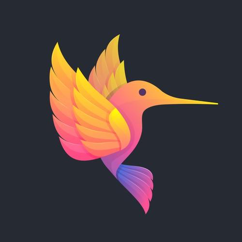 Colibri logo coloring