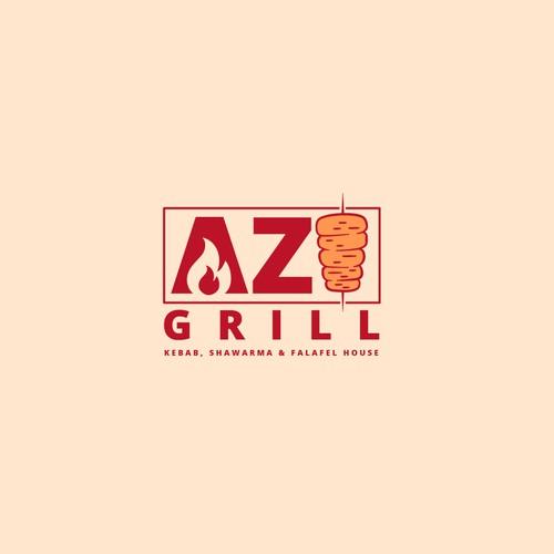 AZI GRILL. Logo Design