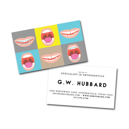 Business card for Orthodontist